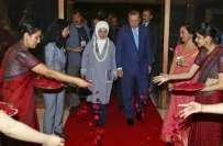ترک صدر بھارت کے دو روزہ دورے پر نئی دہلی پہنچ گئے