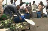 پنجاب فوڈ اتھاٹی کا کریک ڈائون،مختلف شہروں میں3712 لیٹر ناقص دودھ تلف