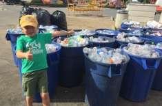 7 سالہ بچے نے اپنی ری سائیکلنگ کمپنی بنا لی۔ دو لاکھ بوتلیں اور قابل ..