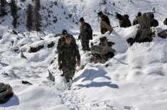 مقبوضہ کشمیر میں بھارتی فوج کی چیک پوسٹ پر برفانی تودہ گرنے کے باعث ..