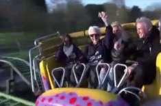 105 سالہ بوڑھا رولر کوسٹر کی سواری کرنے والا  دنیا کا عمر رسیدہ ترین شخص ..