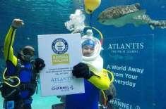 ریڈیو ہوسٹ نے زیر آب دنیا کی طویل ترین ریڈیو براڈ کاسٹ کر کے نیا ورلڈ ..