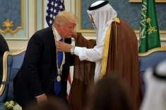 سعودی شاہ کا ڈونلڈ ٹرمپ کو سونے کی تلوار، ہیرے اور 80 کروڑ ڈالر کی کشتی ..