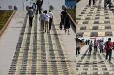 چینی کے سیاحتی مقام پر پیدل چلنے والوں کے لیے سپیڈ بمپ لگا دئیے گئے