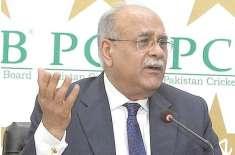 چیئر مین پی سی بی نجم سیٹھی کا اپنے عہدے سے مستعفی ہونیکا فیصلہ