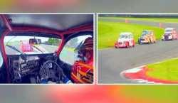 برطانیہ ،پرانی کاروں کی ریس '' لائن ون '' نے جیت لی