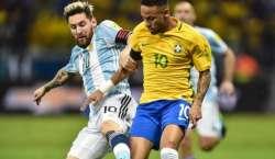 برازیل اورارجنٹائنی فٹبال ٹیمیں میلبورن کرکٹ گراونڈ پر آمنے سامنے ..