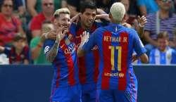 بارسلونا نے اسپینش کوپا ڈیل رے فٹ بال کپ فائنل میں پہنچنے کی پہلی رکاوٹ ..