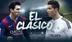 """بارسلونا اور ریال میڈرڈ کا """"ایل کلاسکو """"مقابلہ آج شام 5بجے ہوگا"""