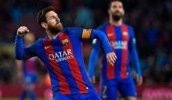 میسی کا عمدہ کھیل، بارسلونا نے فتح کے ساتھ اسپینش لالیگا فٹ بال لیگ ..