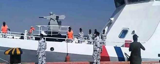گوادر، چین نے سمندری راستے کی حفاظت کیلئے دو بحری جہاز پاکستان کے حوالے ..
