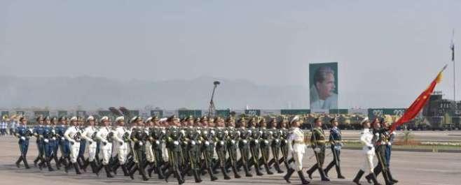 77ویں یوم پاکستان کے موقع پرمسلح افواج کی پریڈ، صدر ، وزیراعظم کی شرکت