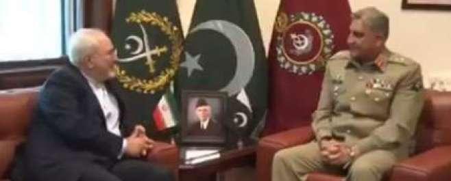 آرمی چیف سےایرانی وزیرخارجہ کی ملاقات،علاقائی سکیورٹی صورتحال پرتبادلہ ..