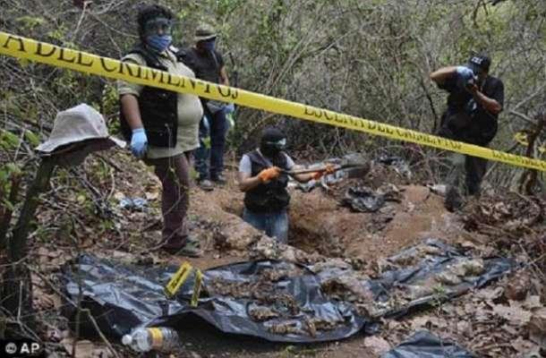 میکسیکو میں اجتماعی قبروں سے 242 نعشیں برآمد