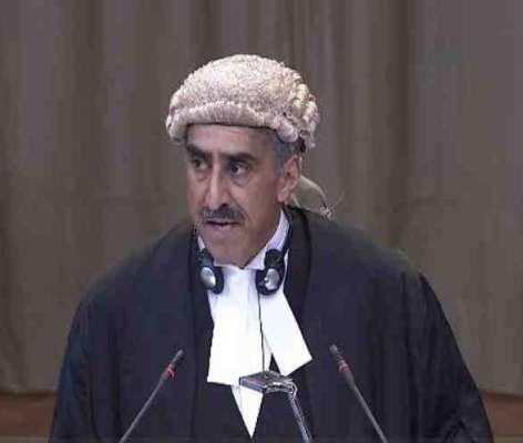 بھارت نےعالمی عدالت انصاف کوگمراہ کیاجس کوہم نےثابت کردیا،وکیل خاورقریشی