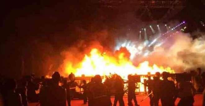 بھارت میں آتش بازی کا سامان بنانے والی فیکٹری میں دھماکہ ، 8افراد جاں ..