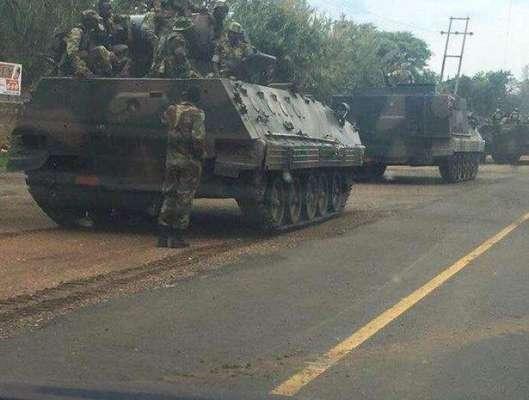 ہرارے:زمبابوے میں فوجی ٹینکوں کی دارالحکومت ہرارے کی طرف پیش قدمی, ..