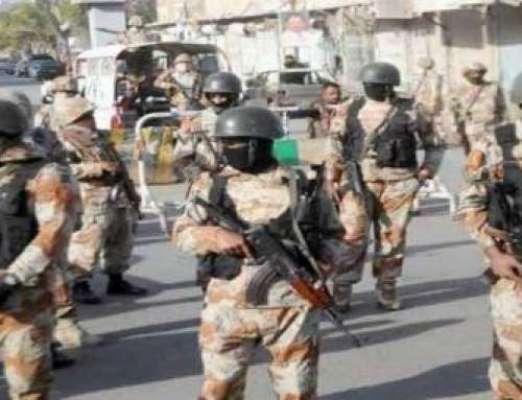 پولیس اور رینجرز کا روہڑی اور گرد و نواح کے علاقوں میں سرچ و کامبنگ ..