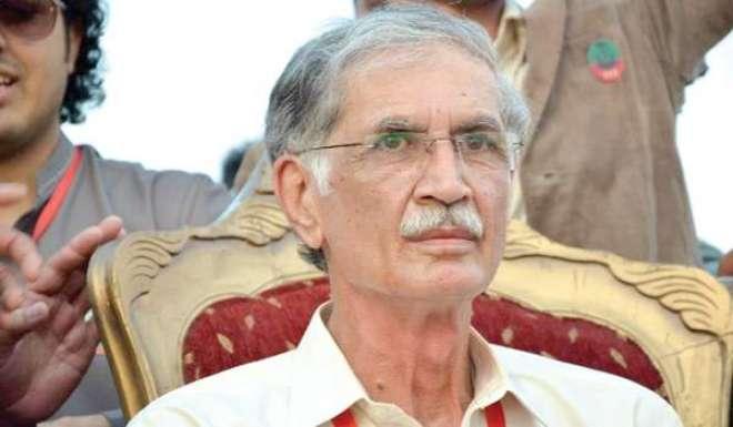 وزیراعلیٰ خیبرپختونخوا پرویز خٹک سے رکن قومی اسمبلی کرنل امیر الله ..