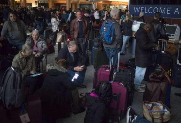 امریکا کے مصروف ترین ایئرپورٹ اٹلانٹا کی بجلی بند ہوگئی'سینکڑوں پروازیں ..