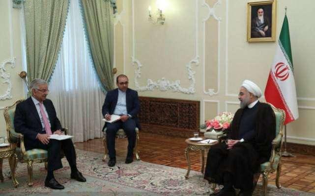 وزیرخارجہ خواجہ آصف کی ایرانی صدر سےملاقات