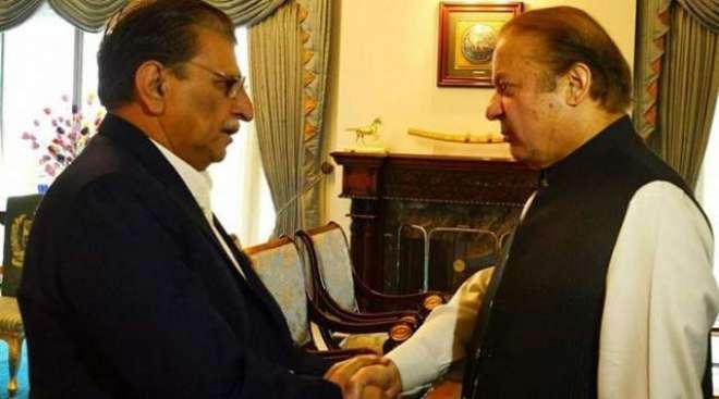 سابق وزیر اعظم پاکستان نواز شریف سے لندن میں آزاد جموںو کشمیر کے وزیر ..