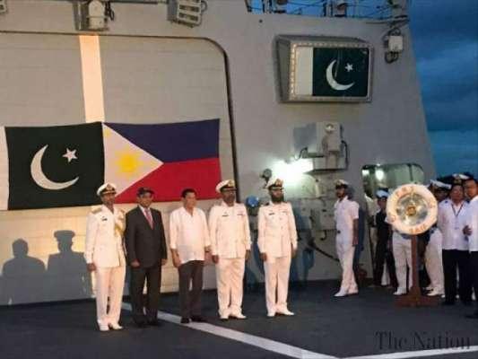 فلپائن کے صدرکا پی این ایس سیف کا دورہ،