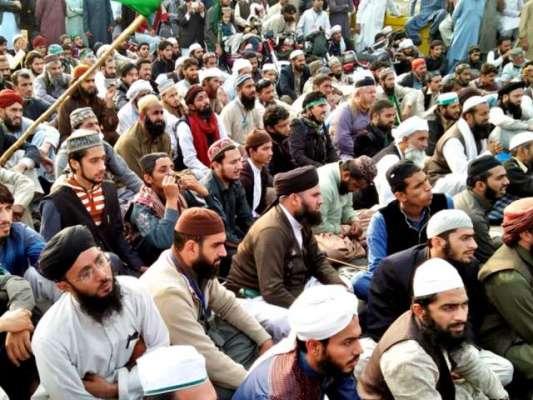 اسلام آباد اور راولپنڈی کو ملانے والے فیض آباد انٹرچینج پر مذہبی ..