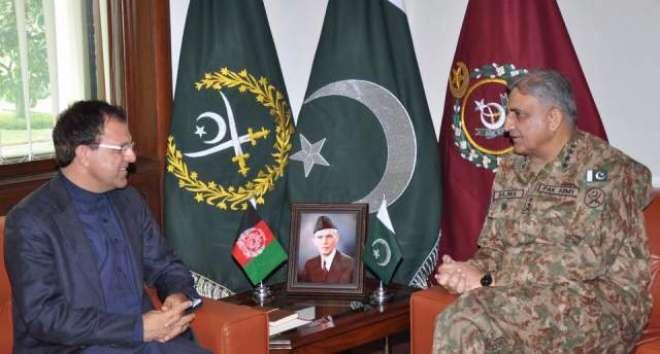 آرمی چیف جنرل قمرجاویدباجوہ سے افغان سفیرکی ملاقات، سکیورٹی صورتحال ..