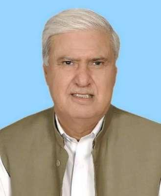 قومی وطن پارٹی کے چیئرمین آفتاب شیرپائو پرسوں ایبٹ آباد میں جلسہ سے ..