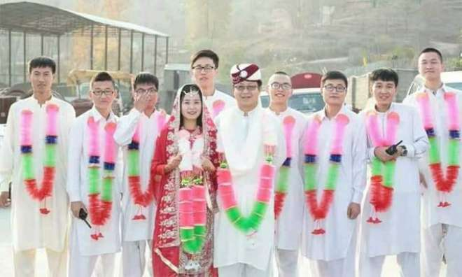 سی پیک پر کام کرنے والے چینی جوڑے نے روایتی پختون اندازمیں شادی کر لی