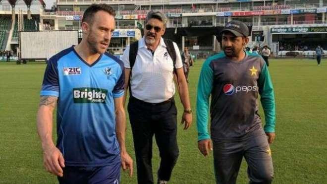 پاکستان بمقابلہ ورلڈ الیون، دوسرے ٹی ٹونٹی کا ٹاس ہو گیا