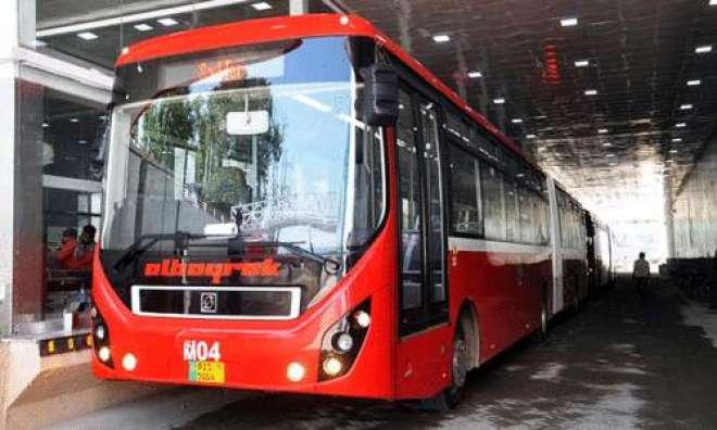 نواز شریف کی آمد ، میٹرو بس روٹ کو محدود کر دیا گیا