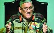 چینی فوج نے لداخ کے مقام پر بھارت چین سرحد پار نہں کی ،سربراہ بھارتی ..