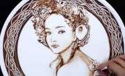 چاکلیٹ سے زبردست فن پارے بنانے والی حیرت انگیز فنکارہ