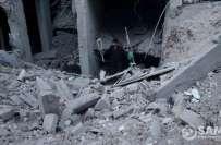 شام کے شہر غوطہ میں شدید بمباری کے بعد زندہ بچ نکلنے والا پاکستانی جوڑا ..
