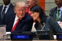 بھارتی نژاد نکی ہیلی نے صدر ٹرمپ سے تعلقات کی افواہوں کی مذمت کردی