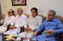 عمران خان کی زیر صدارت ماہرین قانون کا اجلاس، حدیبیہ کیس میں فریق بننے ..