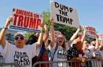 ٹرمپ ٹوئٹراکاؤنٹ پرامریکی شہریوں کاٹوئٹرحکام کےخلاف احتجاج