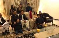 عمران خان کی تقریب نکاح،تصاویرمیں مریم ریاض اورفرح کھڑی ہیں