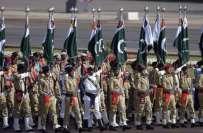 مسلح افواج کی مشترکہ پریڈ کے موقع پر چاروں صوبوں بشمول آزاد کشمیر 'گلگت ..