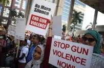 فلوریڈا سکول میں فائرنگ ، طلبہ نے اسلحہ پر پابندی کیلئے قومی مارچ کا ..