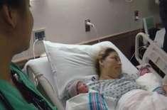 امریکی خاتون کے گھر ایک سال کے فرق سے دو جڑواں بچوں کی پیدائش
