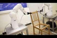 یونیورسٹی کے روبوٹ نے 20 منٹ میں آئیکیا کرسی بنا ڈالی