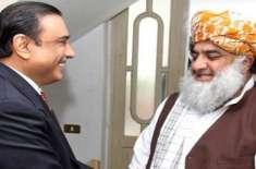 آصف زرداری کی مولانا فضل الرحمان سے ملاقات،سیاسی صورتحال پر تبادلہ ..