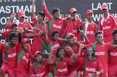پاکستان کے دورہ پر آنے والی مالدیپ کرکٹ ٹیم کے کھلاڑیوں کاواہگہ بارڈر ..
