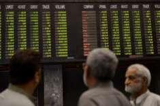 پاکستان اسٹاک ایکسچینج میں کاروبار کے اختتام پر 100 انڈیکس میں 390 پوائنٹس ..