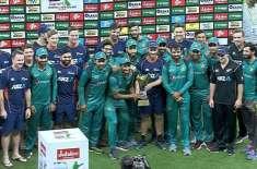 پاکستان اور نیوزی لینڈ کے مابین تیسرا ون ڈے بارش کی نذ ر،سیریز 1-1سے ..