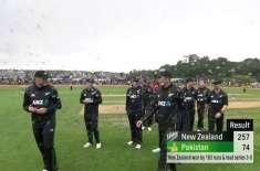 تیسرا ون ڈے ، نیوزی لینڈ نے پاکستان کو 183رنز سے ہرا کر سیریز جیت لی