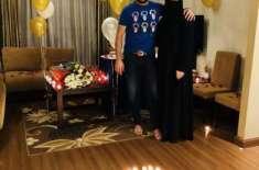 شاہد آفریدی نے پہلی بار اپنی اہلیہ کے ہمراہ تصویر شئیر کر دی